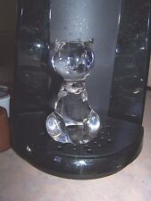 """Crystal Clear Glass Cat Paperweight Figurine 4"""" High"""