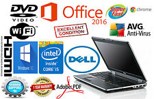 DELL LATITUDE Laptop Computer PC CORE I5 Windows 10 PRO 8GB WiFi DVD NOTEBOOK HD