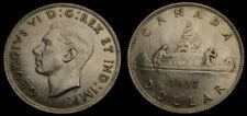 Canada 1937 King George VI Silver Dollar AU-50