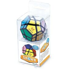 Meffert's Brainteaser Mini Skewb Twist Puzzle Challenge Fun Game Keyring Toy