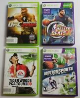Xbox 360 Sports Game Lot of 4 Games SEE DESCRIPTION For Titles