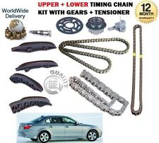 FOR BMW E60 E61 520d 177BHP TOURING 2007--> UPPER + LOWER TIMING CHAIN KIT SET