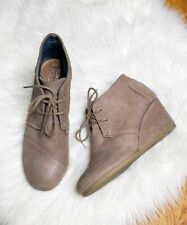 Toms Desert Wedge Ankle Booties Lace Up Womens size 11