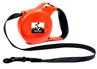Strong Retractable Dog Puppy Leash Comfort Handle Lightweight + FREE Waste Bags
