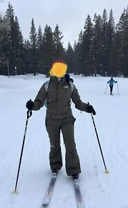 NWT The North Face TNF Cryptic Snow Ski Suit Shugga HyVent Women XS Olive Green