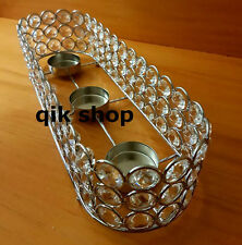 Tealight Holder Tray With Crystal Bead Occasion Wedding Table Centre Piece