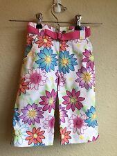 NEW Girls 3T Capri Pants Cotton Floral Healthtex