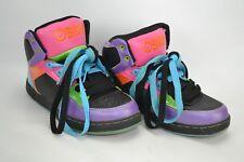 Osiris Skate Skater Shoes Girl's Size 4.5 M Purple Pink Lime Aqua Rare Multi