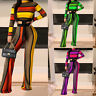 Women Fall Long Sleeve Striped Crop Tops Long Pants Suits Female Two Piece Set