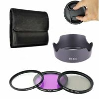 58mm UV CPL FLD Lens Filter Kit Hood EW-63C For EF-S 18-55mm F/3.5-5.6 IS STM