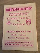 DROGHEDA UNITED FC V SUNDERLAND 1995/96 PRE SEASON FRIENDLY