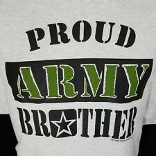 Proud Army Brother United States Gray Graphic T Shirt 99% Cotton 2XL XXL