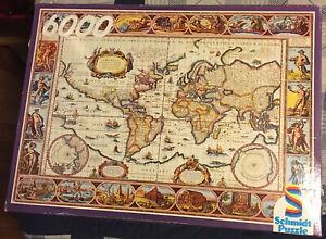 Schmidt 6000 Piece Jigsaw Puzzle ANCIENT WORLD MAP 1555x1060mm VINTAGE RARE HTF