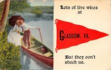 GLASGOW VIRGINIA~LOTS OF LIVE WIRES-BUT THEY DON'T SHOCK US POSTCARD 1914