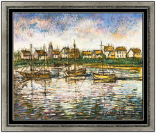 Paul Emile Pissarro Pastel Painting Original Signed French Landscape Framed Art