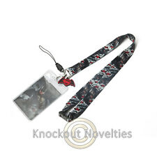 Lanyard w/ Soft Touch Dangle - DC - Batman Cute Fun Key ID Holder Clip