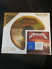 METALLICA Master Of Puppets DCC 24K GOLD DISC CD 1999 NEW SEALED Rare 24 Karat