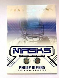 2004 Leaf Rookie & Stars Philip Rivers Masks Dual Facemask Rookie Rc #d 079/325