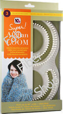 "KB Knitting Board Super 60"" Afghan S Figure 8 Loom Kit Knit Lg Items in 1 Piece"