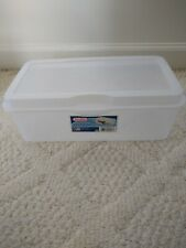 Sterilite Flip Top Storage Box White
