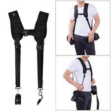 Black Double Dual Shoulder Sling Belt Quick Rapid Strap for 2DSLR Digital Camera