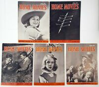 Home Movies Magazine Lot of 5 Issues Aug Sept Oct Dec 1946 May 1947