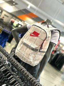 Nike Heritage 2.0 Unisex Backpack Bag Large White/Grey BA5880-030 Was $35 NEW