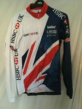 Kalas cycling bike team GB issue long sleeve LS jersey shirt HSBC bike size 5