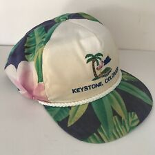 e4ef02cd526 Vintage Keystone Colorado Floral 6 Panel Adjustable USA Hat A3628