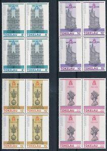 [PG10227] Tokelau 1978 good set in blocks of 4 stamps very fine MNH