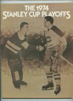 1974 Stanley Cup NHL Hockey Program Philadelphia Flyers New York Rangers GOAL #2