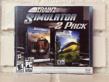 trainz train simulator 2-pack --- 2 computer games --- new