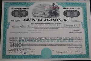 BOND AMERICAN AIRLINES 1981 + COA B28