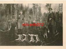 2 x Foto, Zahnarzt Einsatz Ostfront, Hasenjagd in Kostowo 1943/44