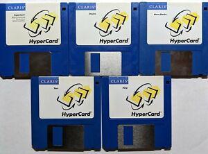 Macintosh HyperCard distribution floppies - 5 disks circa 1990 - Claris
