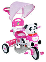 KIDS/BOYS/GIRLS PARENT HANDLE TRIKE/ TRICYCLE PANDA with music 4 colors NEW HOT
