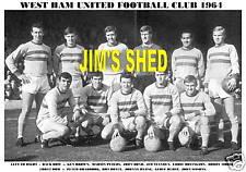 WEST HAM UNITED F.C. TEAM PRINT 1964 (Season 1963-64)