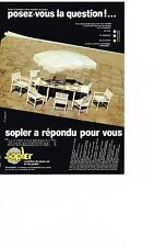 PUBLICITE  1980   SOPLER   alumium  mobilier de jardin