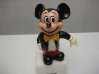 Vintage Walt Disney Productions Mickey Mouse Piggy Bank Made in Korea 6 in RARE