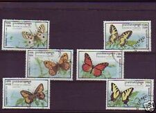 3730+ CAMBODGE   SERIE TIMBRES  PAPILLONS