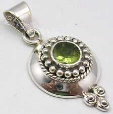 """925 Solid Silver Amazing CUT PERIDOT WELL MADE Pendant 1.4"""" CHEAPEST SHIPPING"""