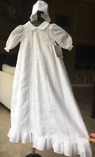 NWT Will'Beth 6 Month Floral Embroidered Baptism Christening Day Gown