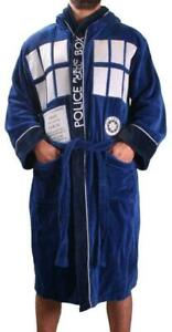 OFFICIAL DOCTOR WHO DR TARDIS MENS LUXURIOUS SOFT DRESSING GOWN BATHROBE ROBE *