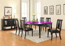Wooden Dining Chairs Black Finish Simple Acme Furniture Chair Dining room Set