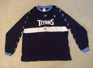 VTG Reebok Tennesse Titans NFL Football Navy Crewneck Sweatshirt Sz XL