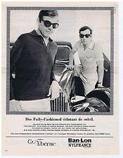 PUBLICITE ADVERTISING 104 1966 GUY DE BERAC polos pour hommes