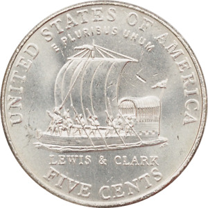 2004 a $2 Roll of 40 USA Nickels Keelboat P Mint