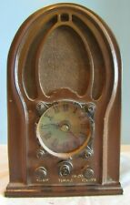 Home Interiors Antique Style Decorative desk top Radio Clock