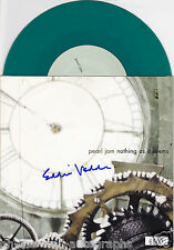 PEARL JAM EDDIE VEDDER HAND SIGNED AUTOGRAPHED L/E BLUE 45! RARE! WITH PROOF+COA