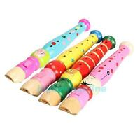 Wooden Plastic Kids Piccolo Flute Whistle Musical Instrument Early Education Toy